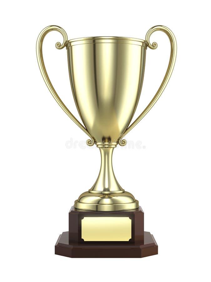 Taza del trofeo del oro stock de ilustración