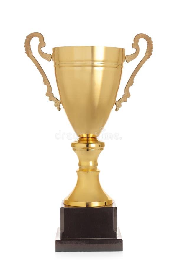 Taza del trofeo del oro del ` s del ganador foto de archivo libre de regalías
