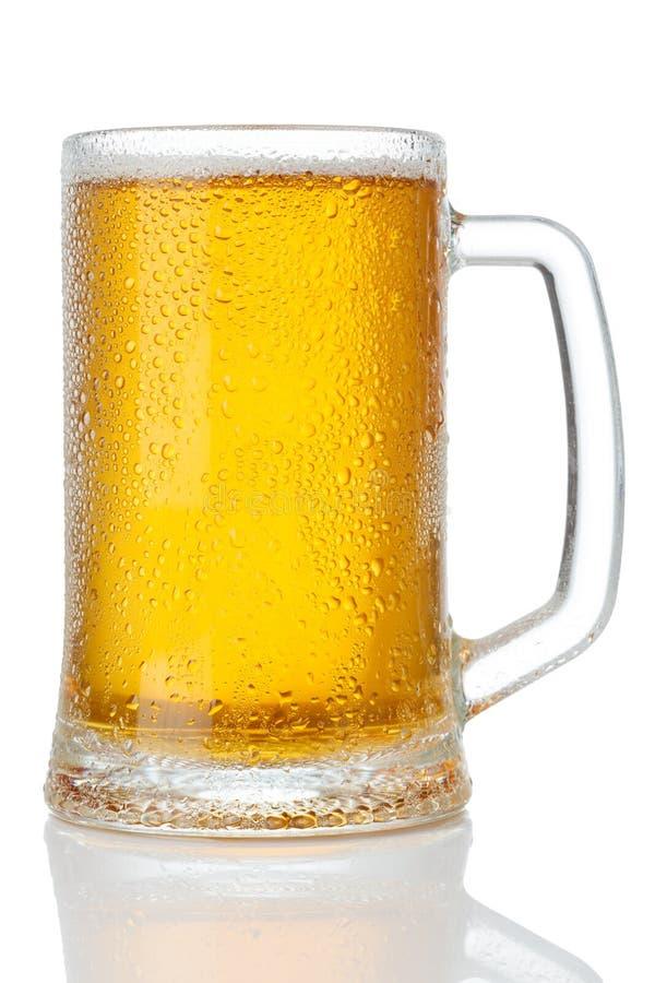 Taza fría de cerveza foto de archivo libre de regalías