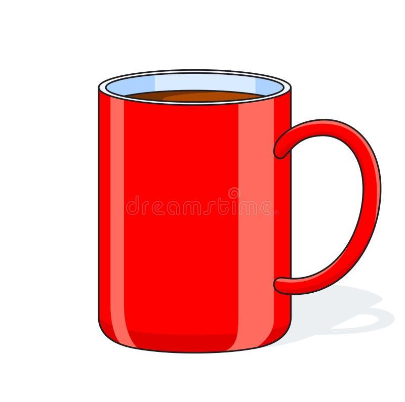 Taza grande roja libre illustration