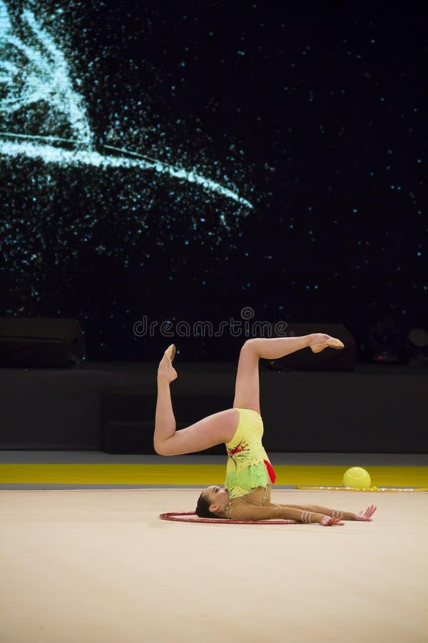 Taza internacional de la gimnasia rítmica en Kyiv fotografía de archivo libre de regalías