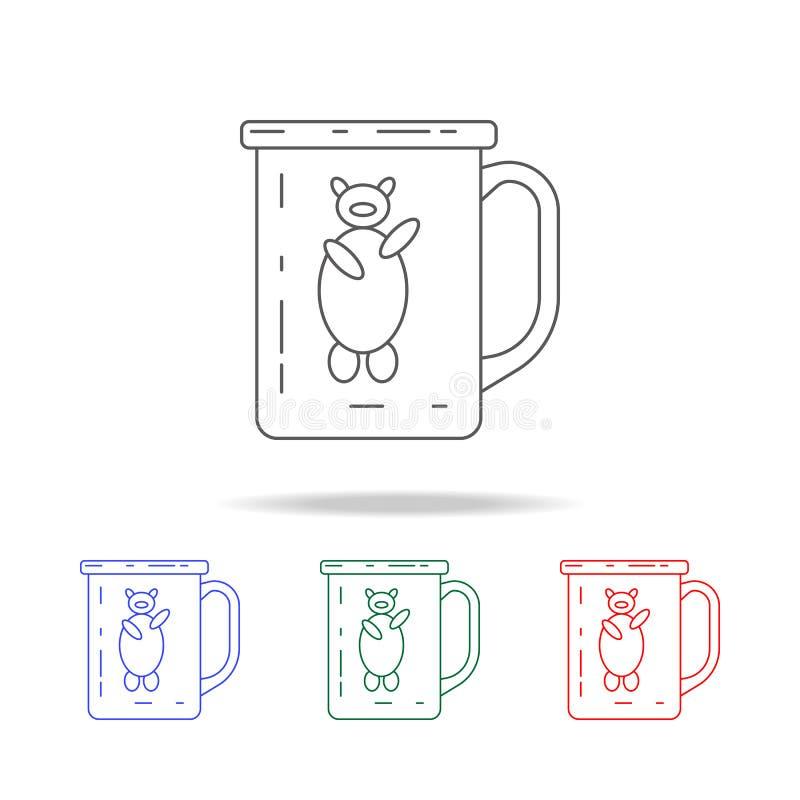 taza para el icono que acampa Elementos de iconos coloreados multi que acampan Icono superior del diseño gráfico de la calidad Ic libre illustration