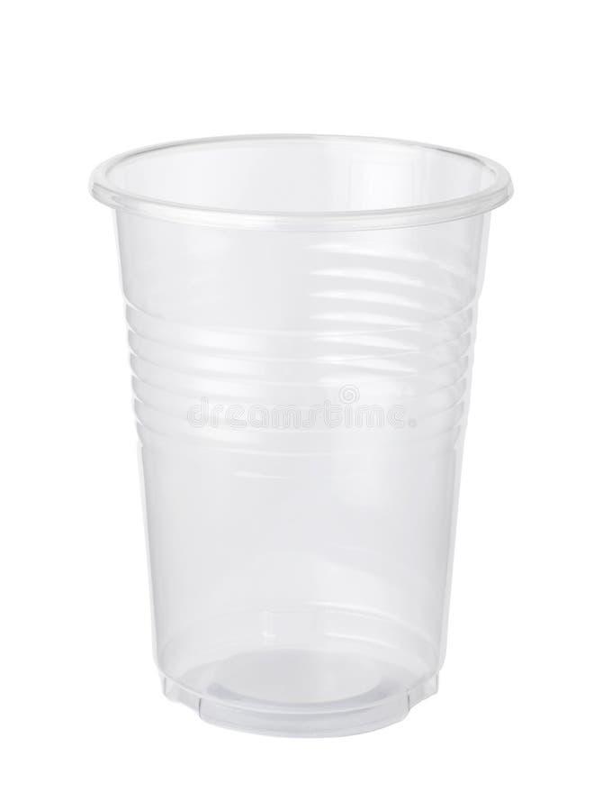 taza plástica vacía fotografía de archivo