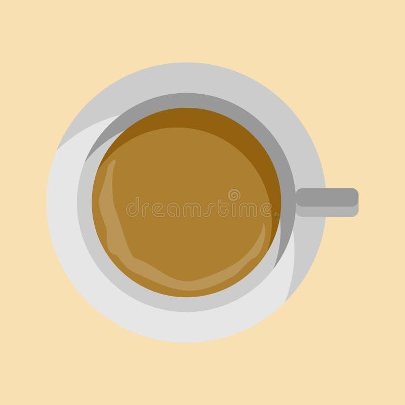 Taza plana de la endecha de ejemplo del café ilustración del vector