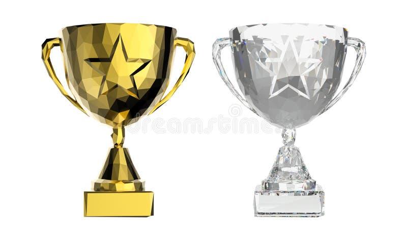 Taza poligonal del trofeo libre illustration