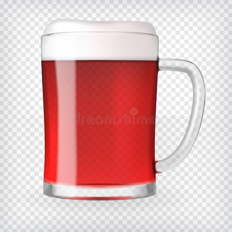Taza realista con la cerveza imágenes de archivo libres de regalías