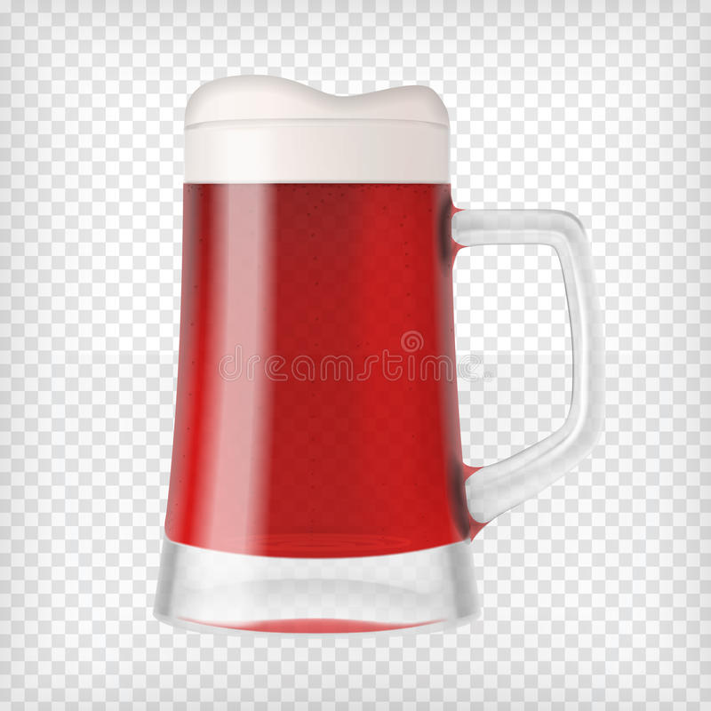 Taza realista con la cerveza foto de archivo