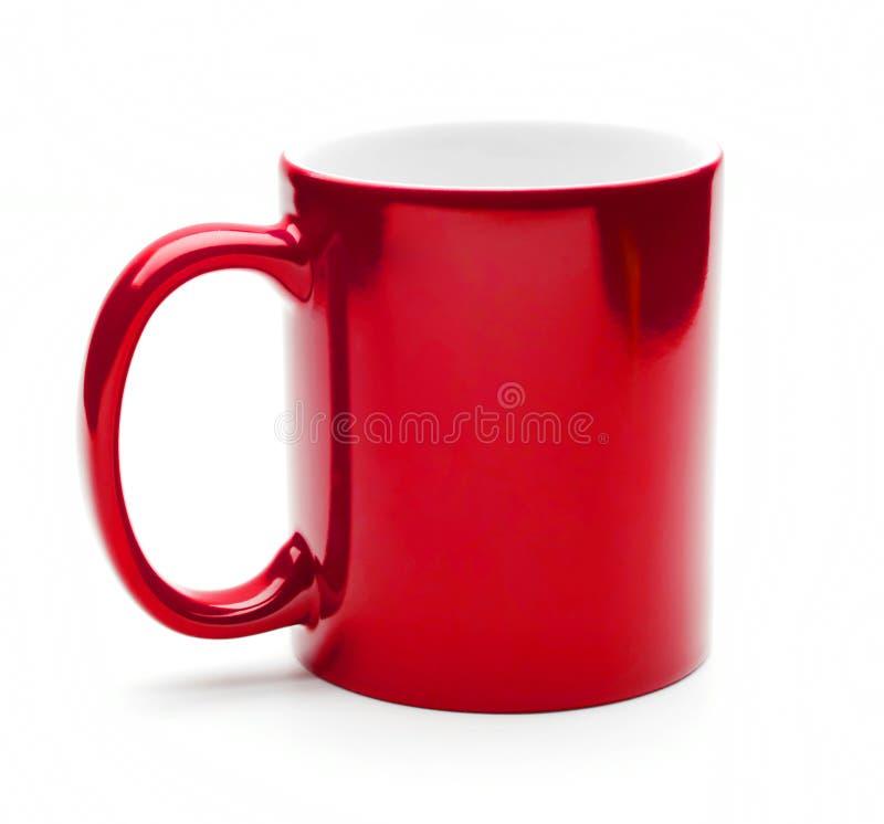 Taza roja fotografía de archivo libre de regalías