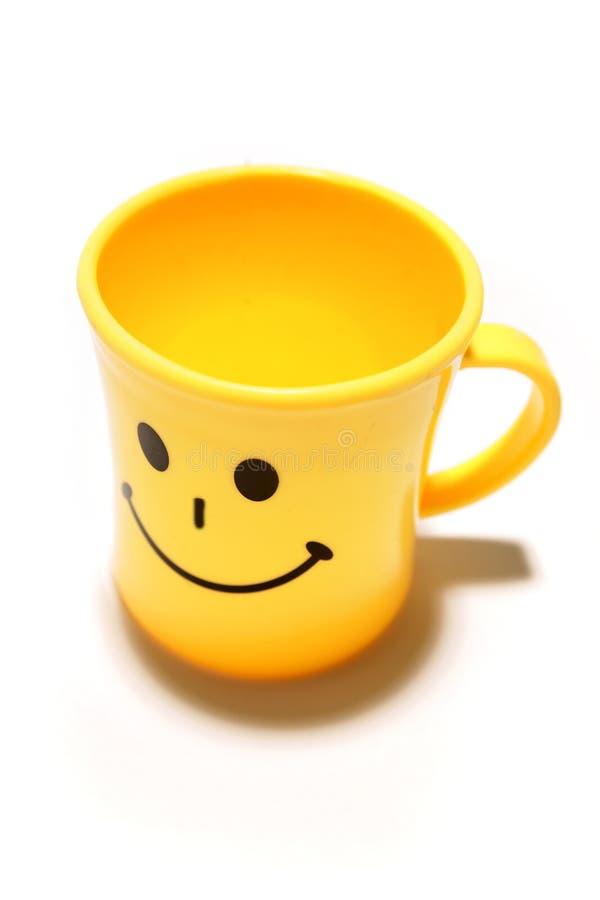 Taza sonriente fotos de archivo libres de regalías