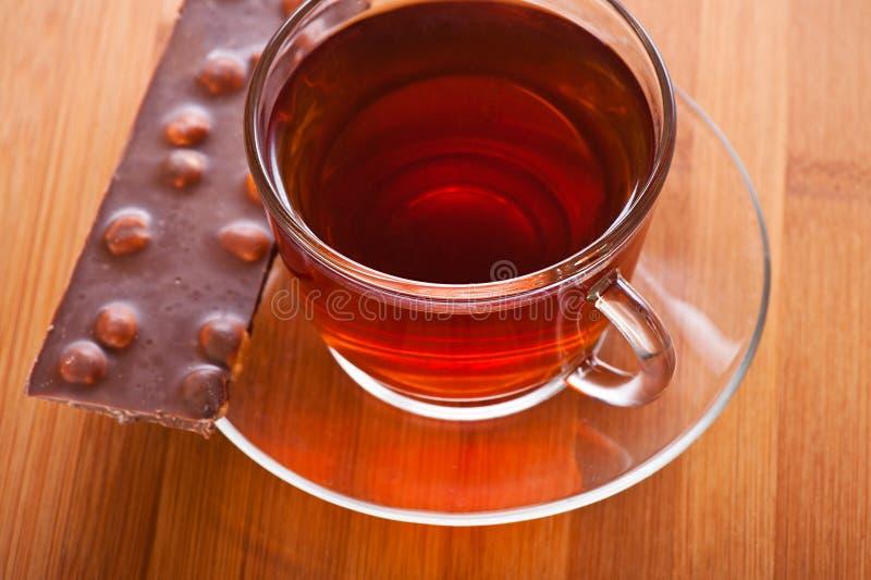 Taza (té, café) y rebanada foto de archivo libre de regalías