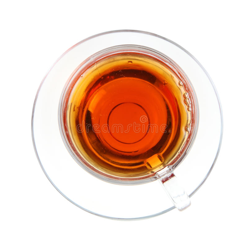Taza transparente de té fotografía de archivo