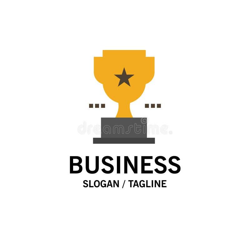 Taza, trofeo, premio, negocio Logo Template del logro color plano libre illustration