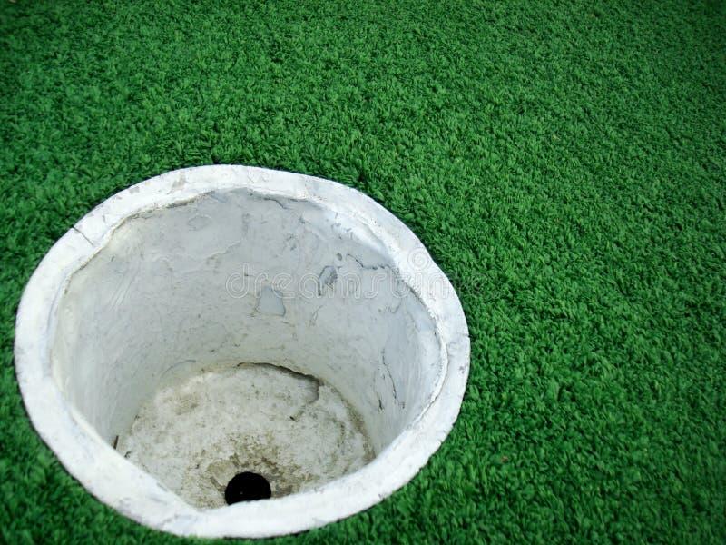 Taza vacía del golf