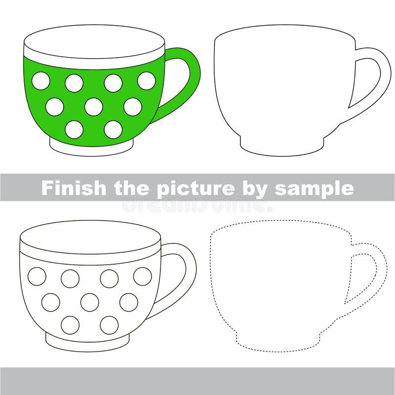 Taza verde Hoja de trabajo del dibujo libre illustration