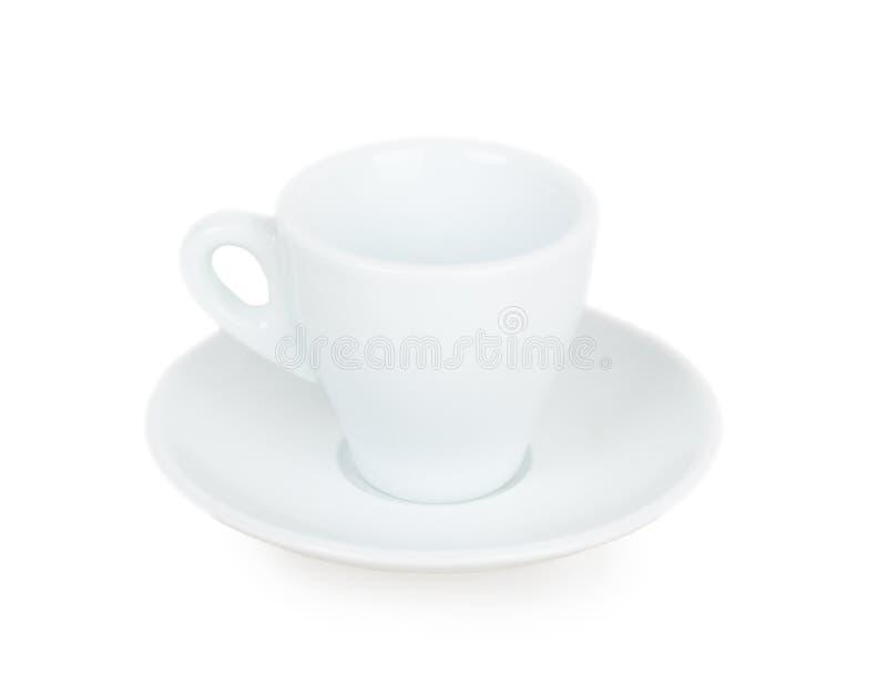 Taza y platillo blancos foto de archivo libre de regalías