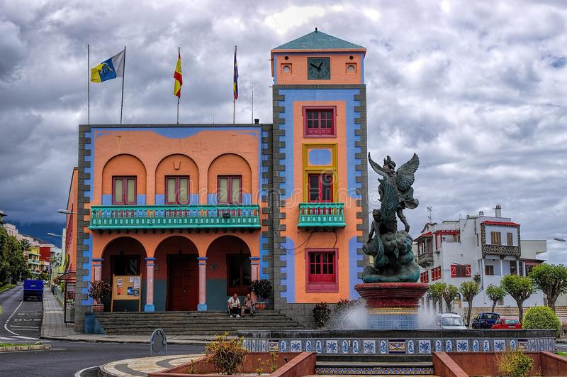Tazacorte, νησί Λα Palma, καναρίνι, Ισπανία στοκ εικόνες με δικαίωμα ελεύθερης χρήσης