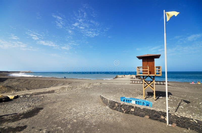 Tazacorte παραλία στο Λα Palma, Κανάριο νησί, Ισπανία στοκ φωτογραφία με δικαίωμα ελεύθερης χρήσης