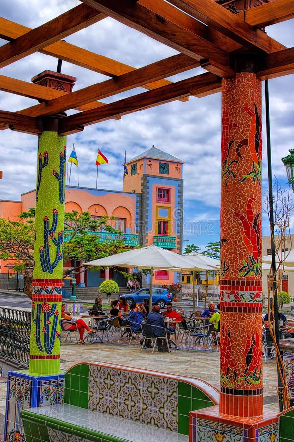 Tazacorte, La Palma island, Canary, Spain stock images