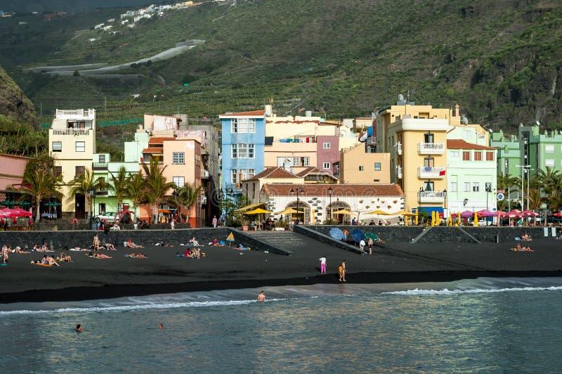 Tazacorte no La Palma, Ilhas Canárias, Espanha imagem de stock