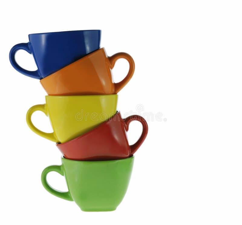 Tazas abstractas del color foto de archivo libre de regalías