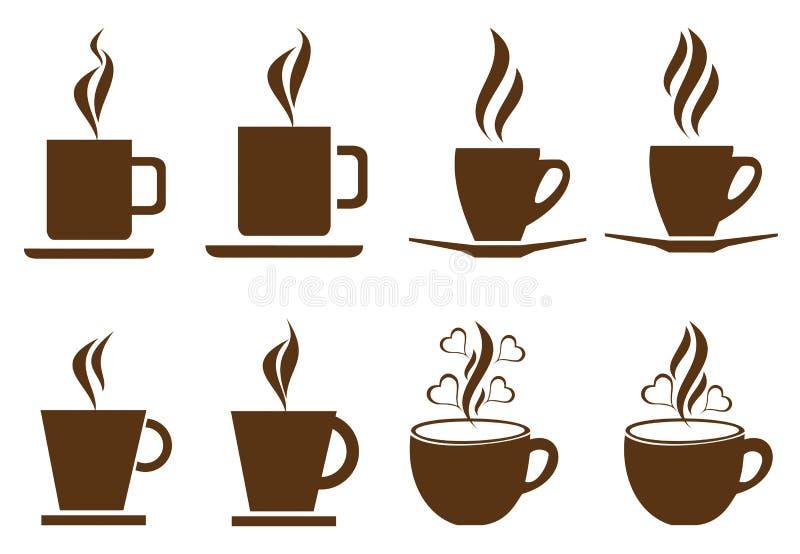 Tazas De Café Ilustración Del Vector. Ilustración De