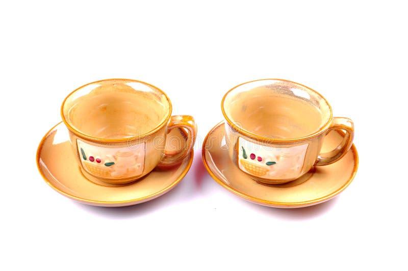 Tazas de té imagen de archivo