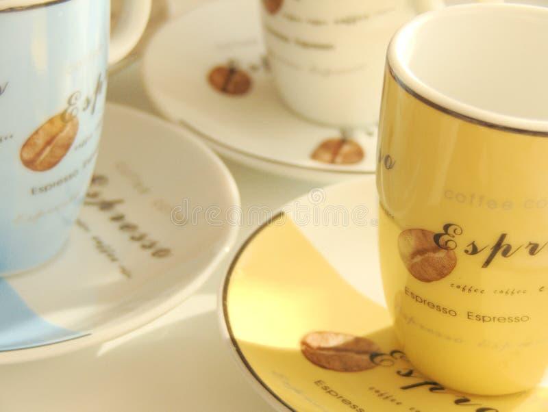 Tazas del café express fotos de archivo