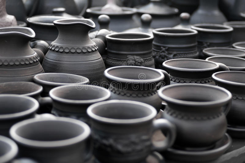 Tazas y jarros imagen de archivo libre de regalías