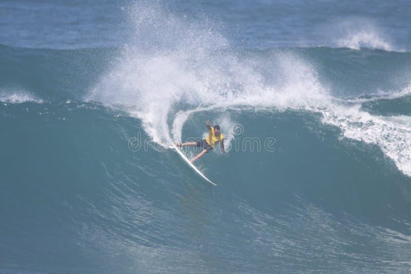 Tazza 2009 di mondo del campione praticante il surfing fotografia stock