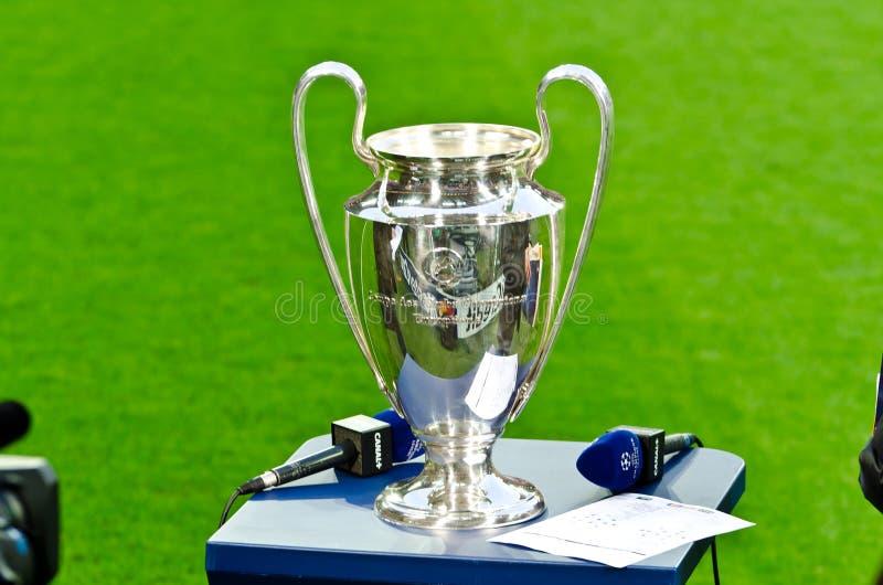 Tazza 2012 dell'UEFA Champions League fotografia stock