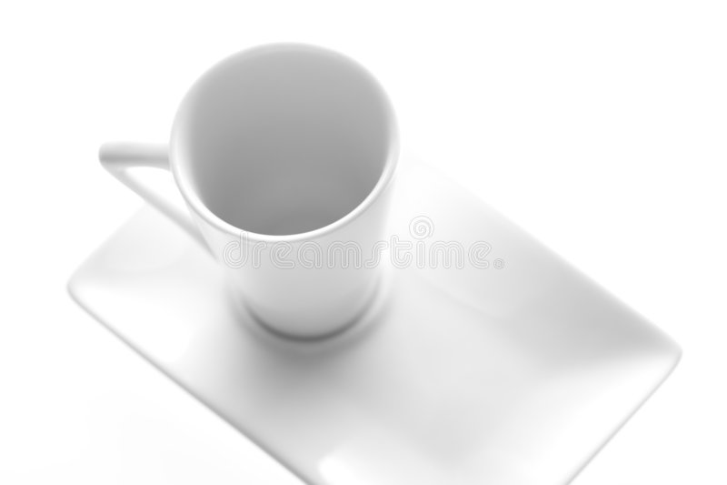 Download Tazza bianca immagine stock. Immagine di disegno, perfetto - 3131207