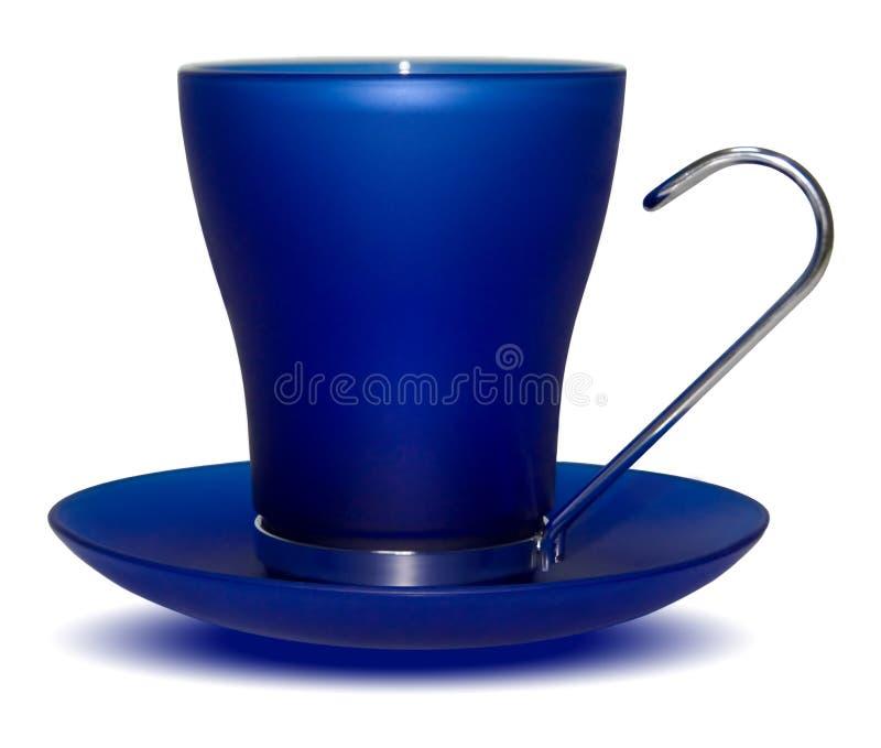 Tazza blu scuro fotografie stock libere da diritti