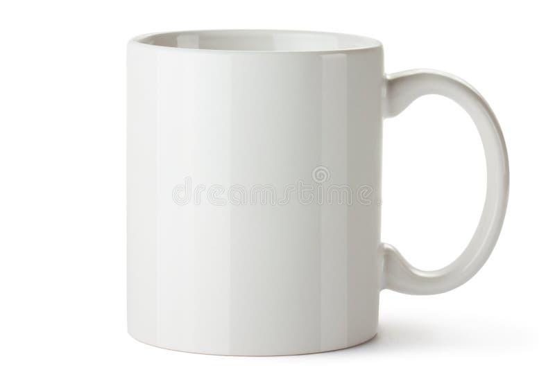 Tazza ceramica bianca immagini stock