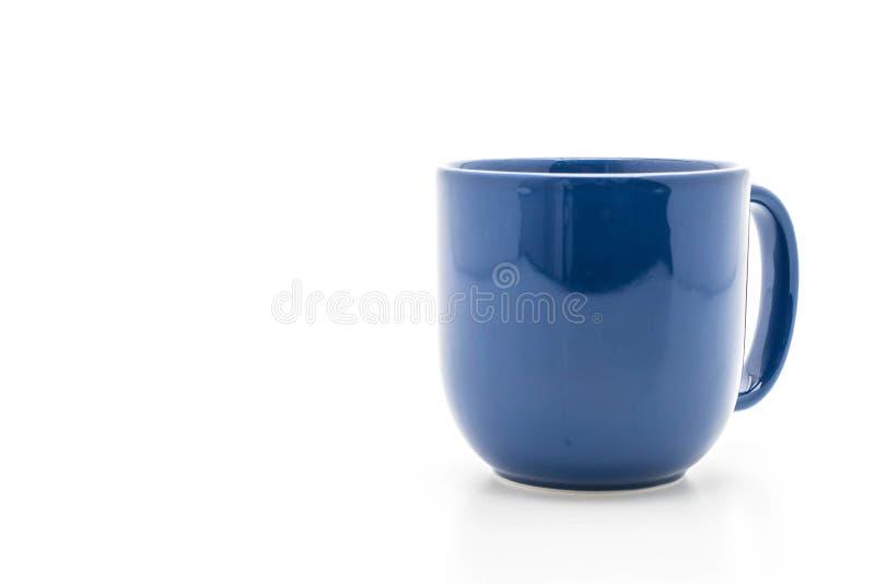 Tazza ceramica blu fotografie stock libere da diritti