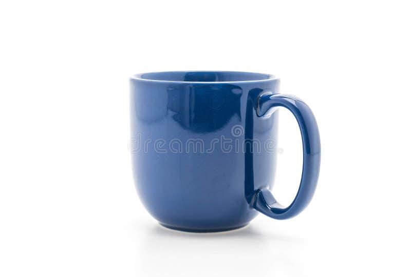 Tazza ceramica blu immagine stock libera da diritti
