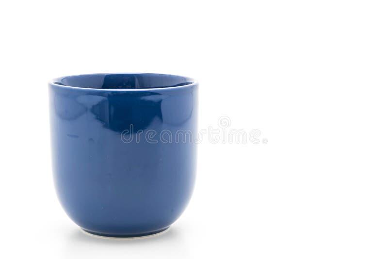 Tazza ceramica blu fotografie stock