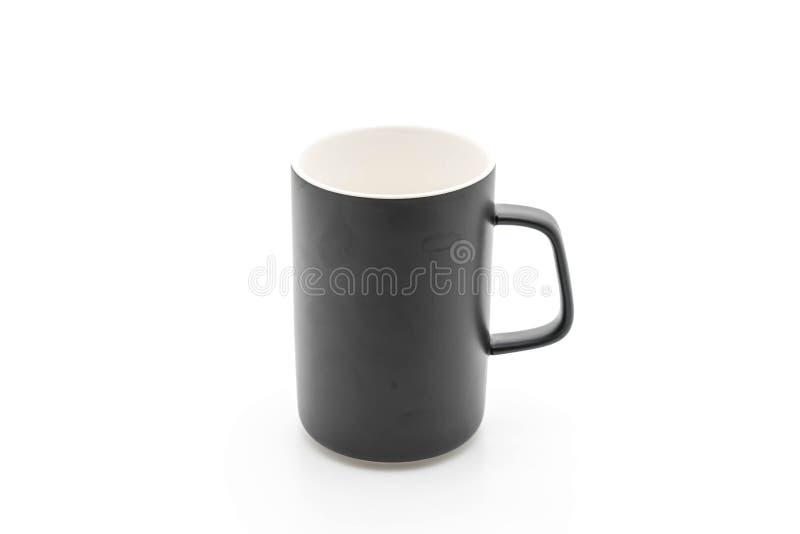 Tazza ceramica nera fotografie stock libere da diritti