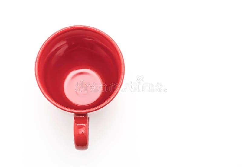 Tazza ceramica rossa fotografia stock libera da diritti