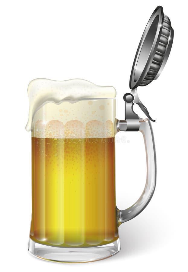 Tazza con birra Vettore illustrazione vettoriale