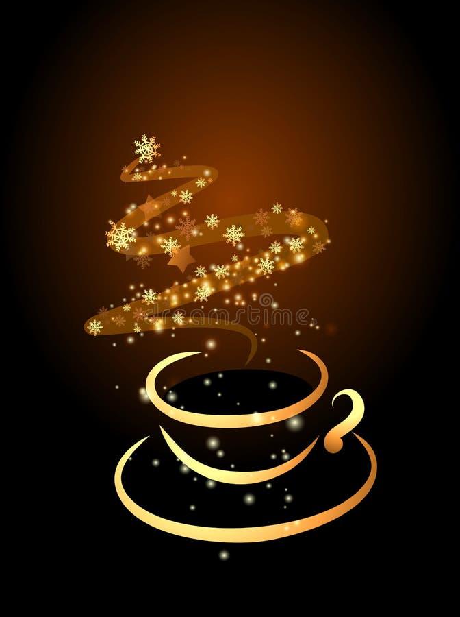 Tazza del caffè di magia di natale illustrazione di stock