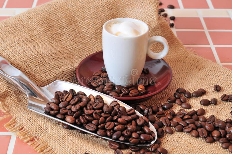 Tazza del caffè espresso di Kaffee fotografia stock