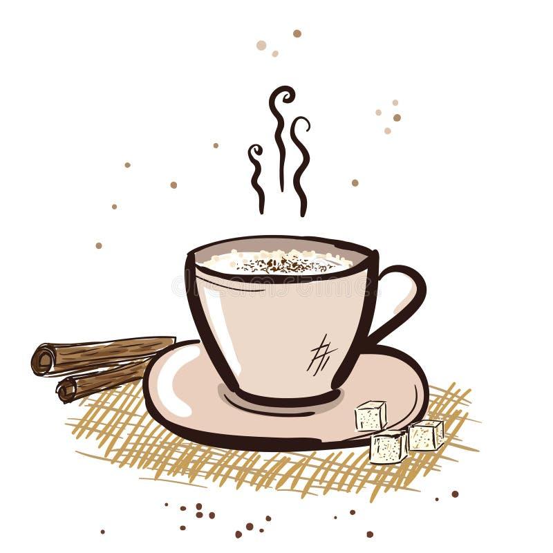 Tazza del Cappuccino. royalty illustrazione gratis