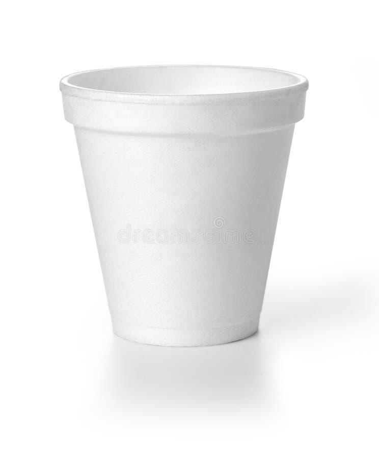 Tazza del coffe di Polistren fotografia stock