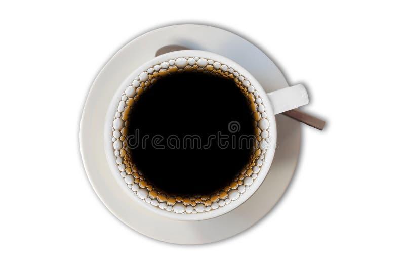 Tazza del nero di miscela del caffè del filtrante isolata su fondo bianco immagini stock