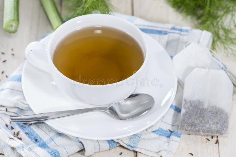 Tazza del tè del finocchio fotografie stock