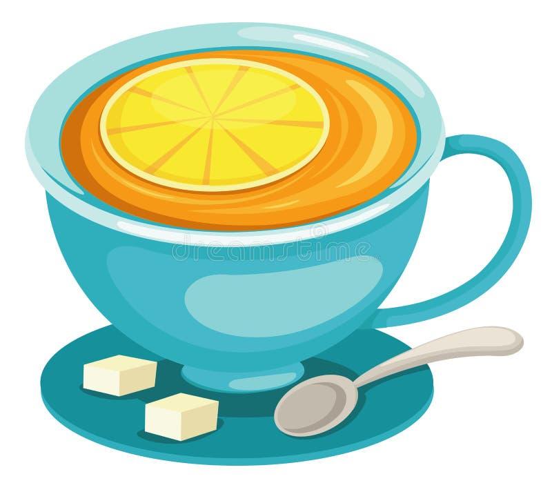Tazza del tè del limone royalty illustrazione gratis