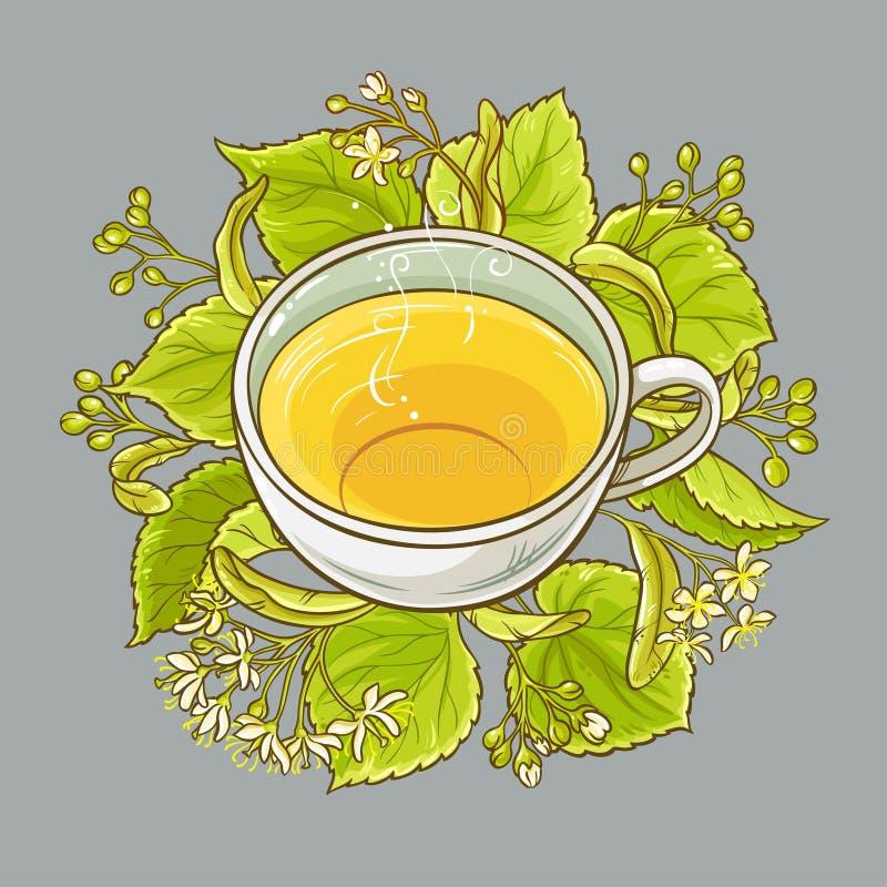 Tazza del tè del tiglio illustrazione vettoriale