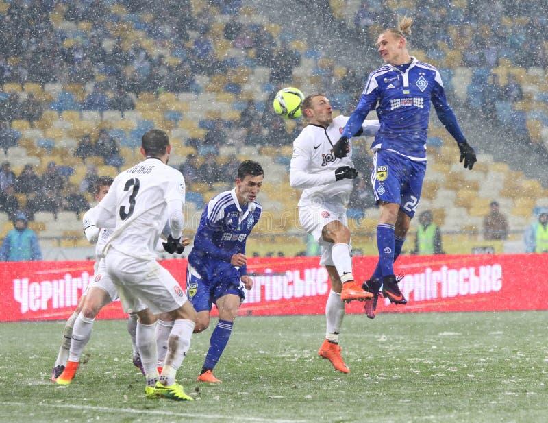 Tazza dell'Ucraina: FC Dynamo Kyiv v Zorya Luhansk immagini stock