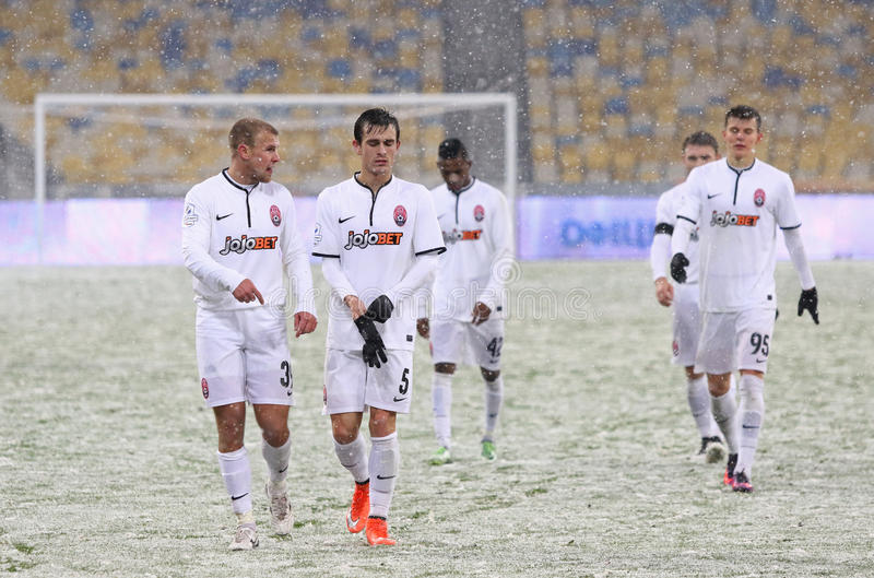 Tazza dell'Ucraina: FC Dynamo Kyiv v Zorya Luhansk a Kiev fotografie stock libere da diritti