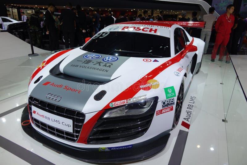 Tazza di Audi R8 LMS fotografia stock libera da diritti
